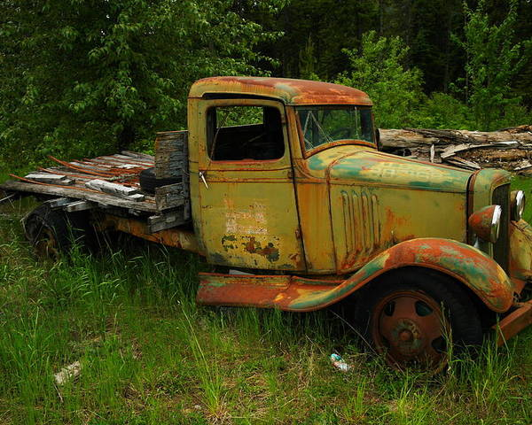 Trucks Poster featuring the photograph An Old Flatbed by Jeff Swan