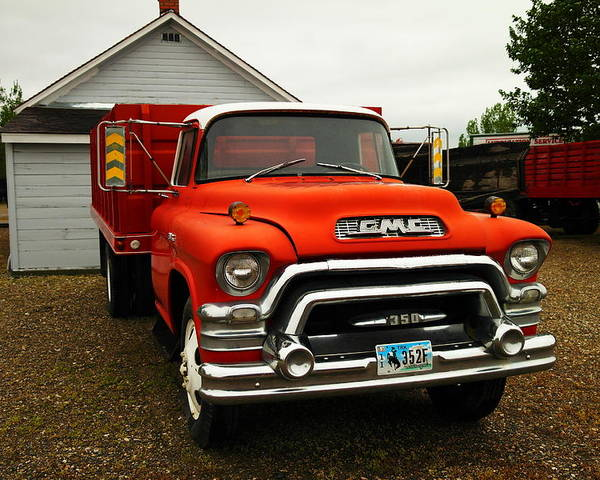 Gmc. Pick Ups. Old Trucks Poster featuring the photograph An Old Gmc by Jeff Swan