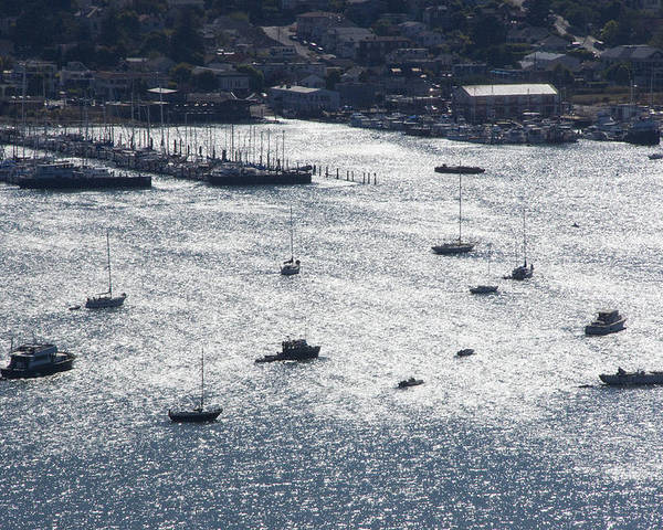 Richardson Bay Poster featuring the photograph Anchorage Off Of Sausalito by Scott Lenhart
