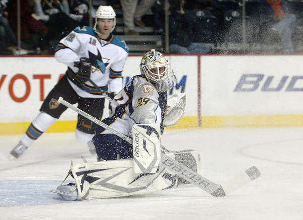 Nashville Predators Poster featuring the photograph Anders Lindback by Don Olea
