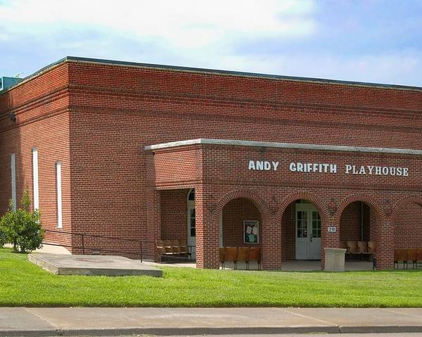Andy Griffith Playhouse Poster featuring the photograph Andy Griffith Playhouse Nc by Bob Pardue