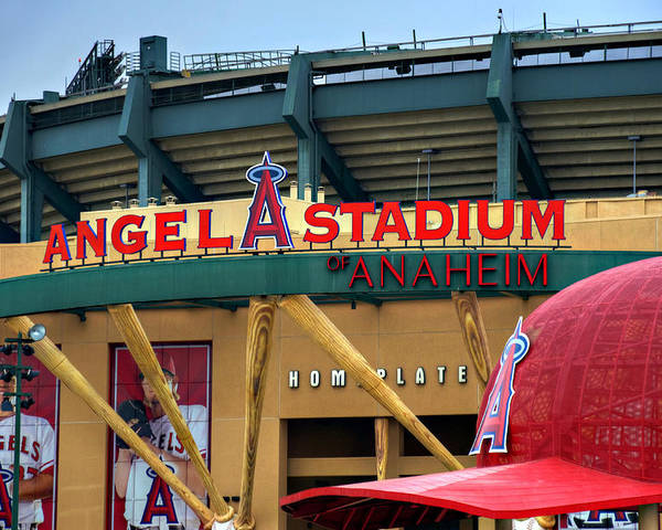 Los Poster featuring the photograph Angel Stadium by Ricky Barnard