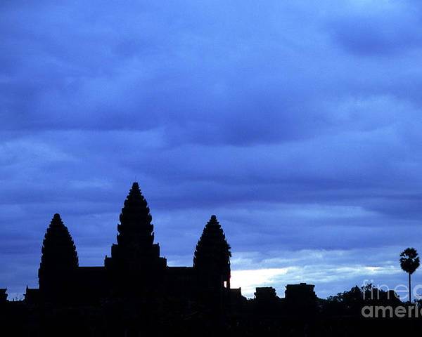 Angkor Wat Poster featuring the photograph Angkor Wat Sunrise 01 by Rick Piper Photography