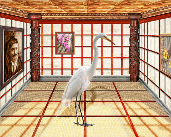 Egret Poster featuring the photograph Animal - The Egret by Mike Savad