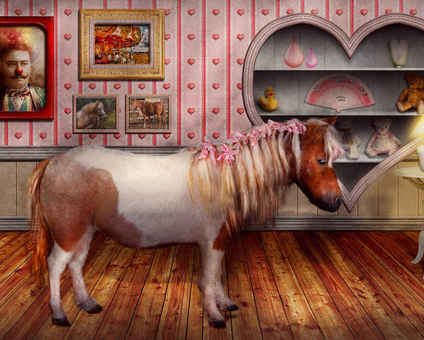 Pony Poster featuring the photograph Animal - The Pony by Mike Savad