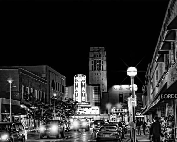 Ann Arbor Poster featuring the photograph Ann Arbor Nights by Pat Cook