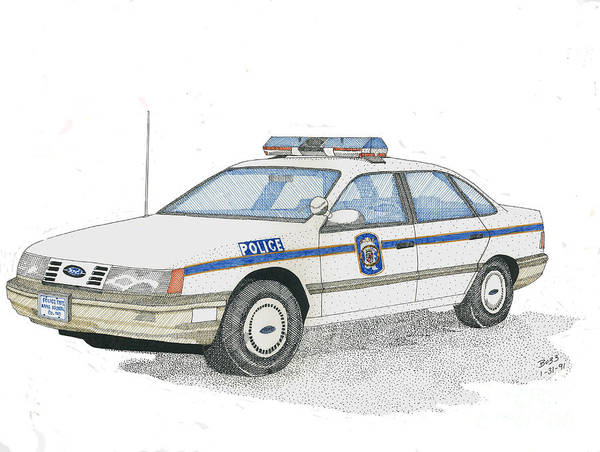 Anne Arundel County Poster featuring the drawing Anne Arundel County Police by Calvert Koerber