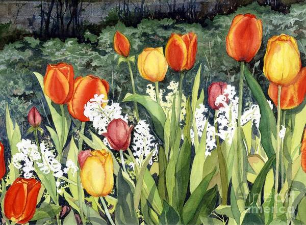Flowers Poster featuring the painting Ann's Tulips by Barbara Jewell