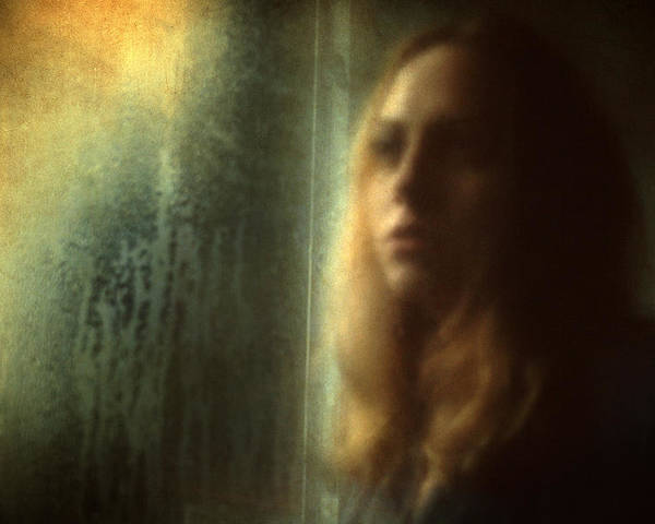 Portrait Poster featuring the photograph Another Face In A Window by Taylan Apukovska