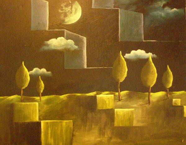 Surrealism Poster featuring the painting another World by Birgit Schnapp