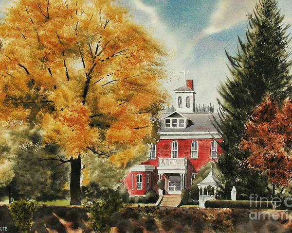 Antebellum Autumn Ironton Missouri Poster featuring the painting Antebellum Autumn Ironton Missouri by Kip DeVore
