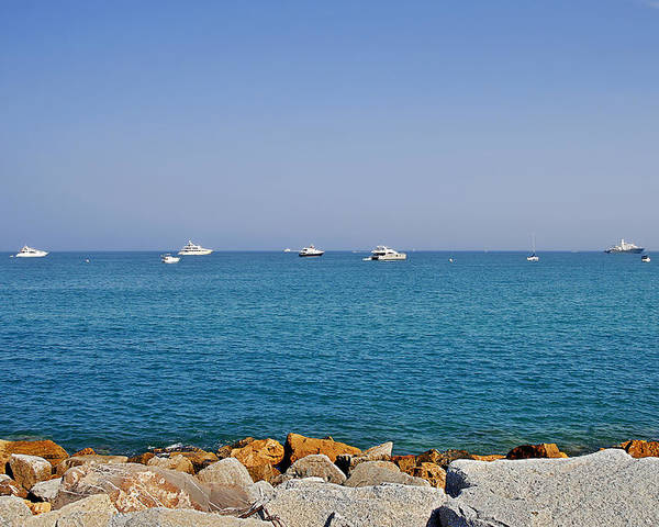 Port Poster featuring the photograph Antibes - Superyachts Of Billionaires by Christine Till