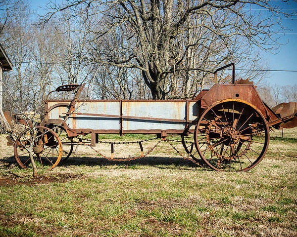Hay Poster featuring the photograph Antique Hay Bailer 3 by Douglas Barnett