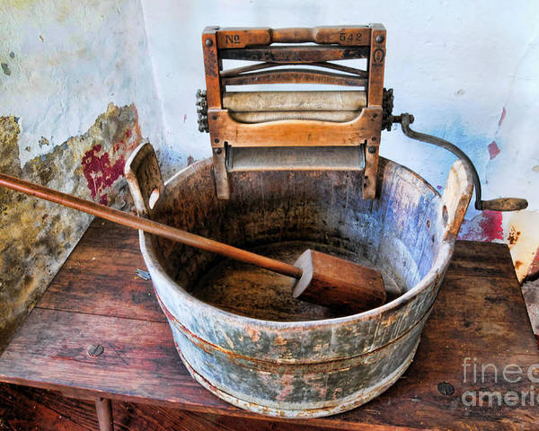 Americana Poster featuring the photograph Antique Washing Machine by Paul Ward