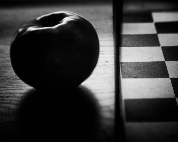 Formal Poster featuring the photograph Apple And Squares by Steve Johnson