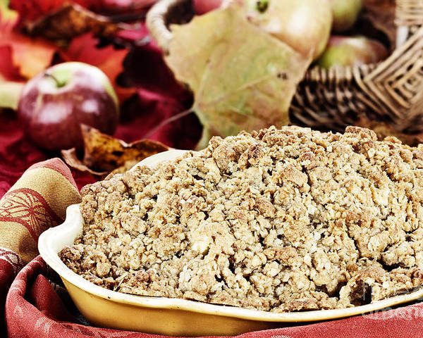 Apple Crumble Poster featuring the photograph Apple Crisp by Stephanie Frey
