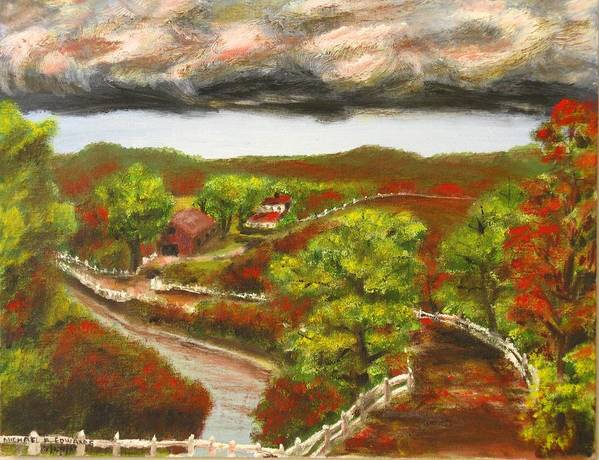 Nature Poster featuring the painting Approaching Storm by Michael Anthony Edwards