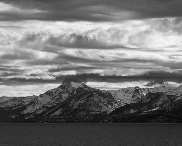 Lake Tahoe Poster featuring the photograph Approaching Storm Over Lake Tahoe by Scott Lenhart