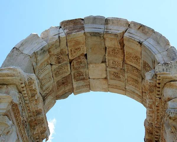 Aphrodisias Poster featuring the photograph Arched Gate Of The Tetrapylon by Tracey Harrington-Simpson
