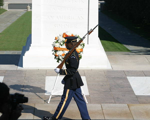 Arlington Poster featuring the photograph Arlington National Cemetery - Tomb Of The Unknown Soldier - 121210 by DC Photographer