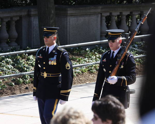 Arlington Poster featuring the photograph Arlington National Cemetery - Tomb Of The Unknown Soldier - 121222 by DC Photographer