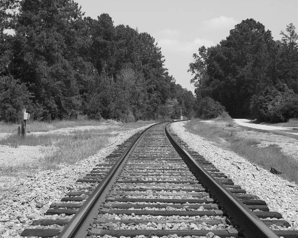Railroad Poster featuring the photograph Around The Bend by Mickey Butler