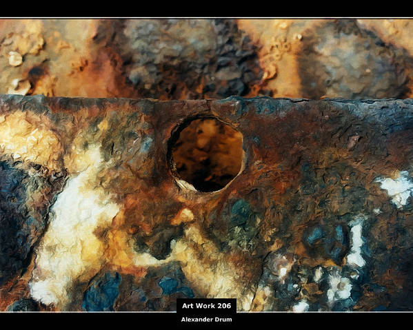 Canvas Poster featuring the painting Art Work 206 Ship Rust by Alexander Drum