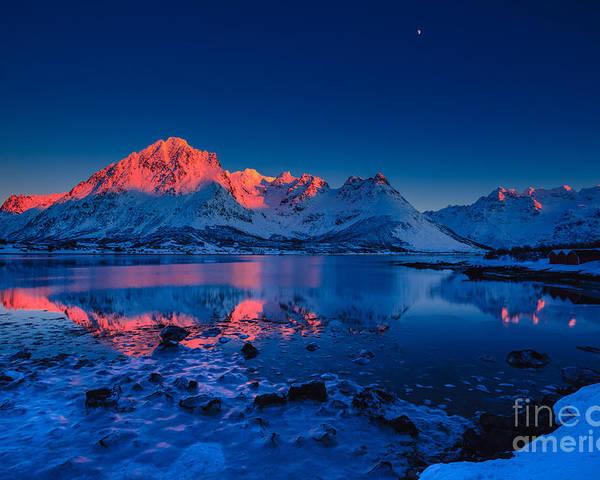 Lofoten Poster featuring the photograph Artic Sunset by Francesco Ferrarini