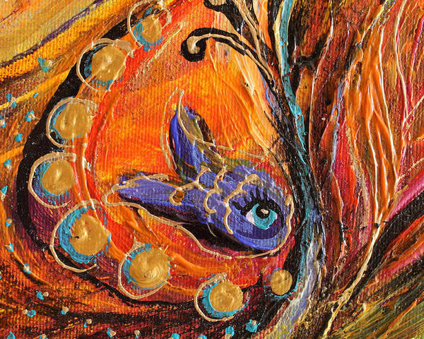 Jewish Art Prints Poster featuring the painting Artwork Fragment 88 by Elena Kotliarker