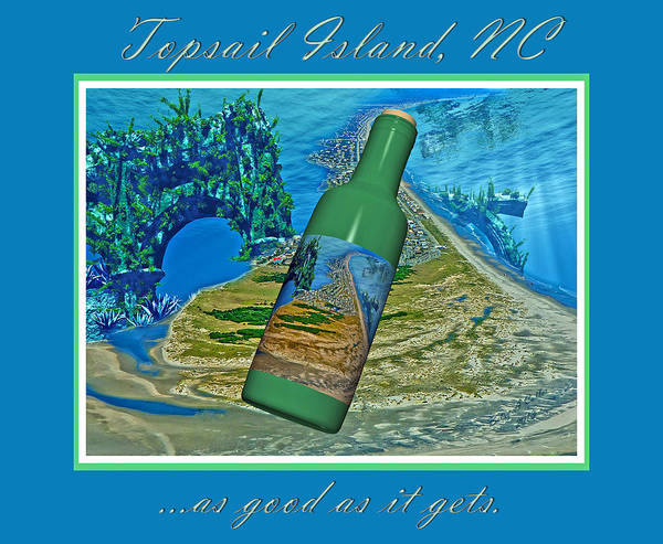 Topsail Poster featuring the mixed media As Good As It Gets by Betsy Knapp