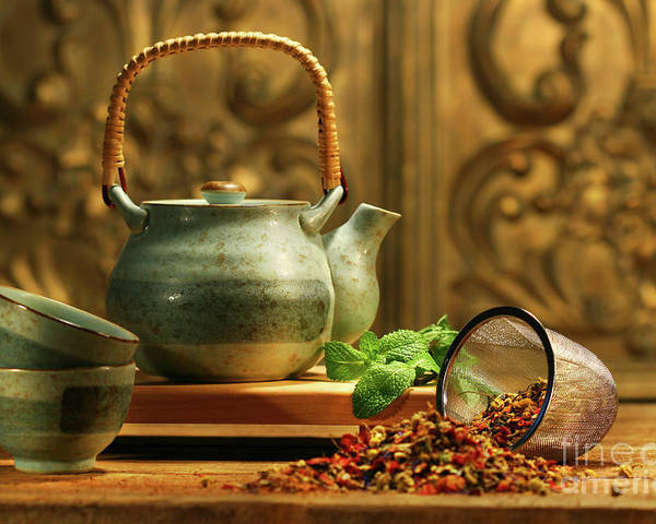 Asia Poster featuring the photograph Asian Herb Tea by Sandra Cunningham