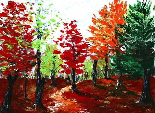 Malakhova Poster featuring the painting Autumn by Anastasiya Malakhova