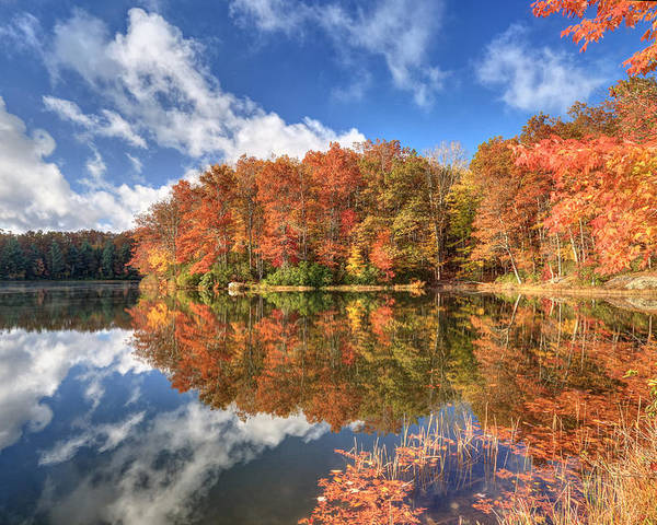 Boley Lake Poster featuring the photograph Autumn At Boley Lake by Jaki Miller