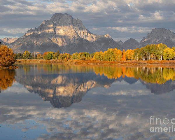 Oxbow Poster featuring the photograph Autumn At The Oxbow by Bill Singleton