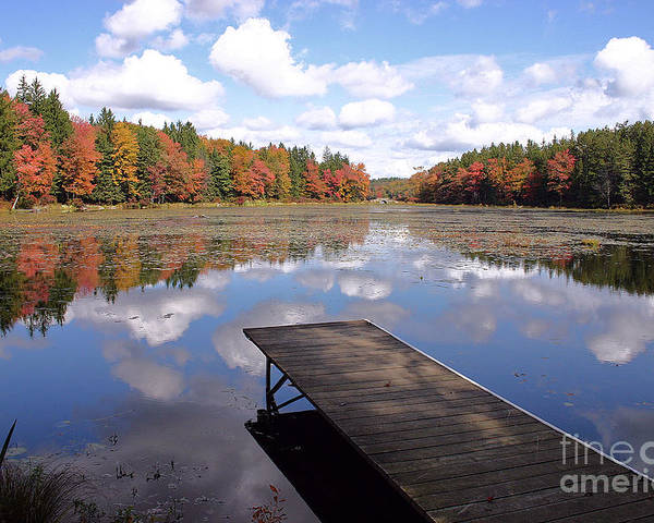 Autumn Poster featuring the photograph Autumn Dock by David Rucker