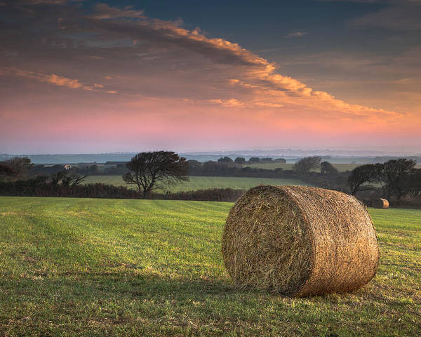 Landscape Poster featuring the photograph Autumn In Cornwall by Christine Smart
