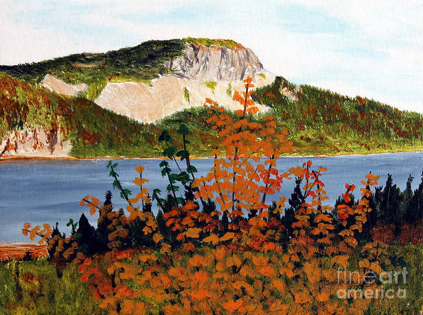 Barbara Griffin Poster featuring the painting Autumn Sunset On The Hills by Barbara Griffin