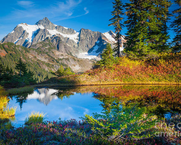 America Poster featuring the photograph Autumn Tarn by Inge Johnsson