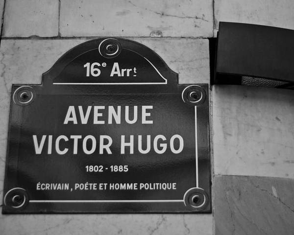 Victor Hugo Poster featuring the photograph Avenue Victor Hugo Paris Road Sign by Georgia Fowler