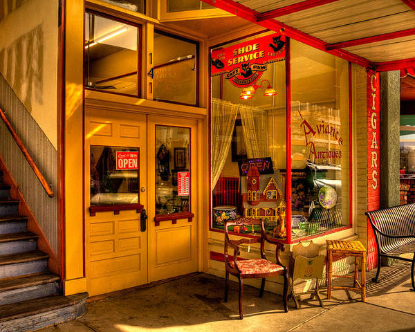 Antique Stores Poster featuring the photograph Aviance Antiques Prescott Arizona by David Patterson