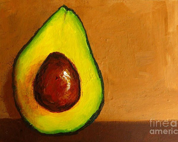 Art Poster featuring the painting Avocado Palta Vi by Patricia Awapara