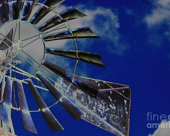 Skyscape Poster featuring the photograph Azure Sky by Diane Miller