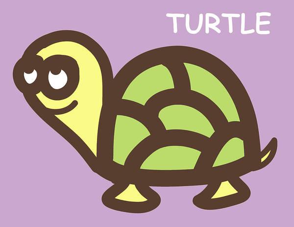 Turtle Poster featuring the digital art Baby Turtle Nursery Wall Art by Nursery Art