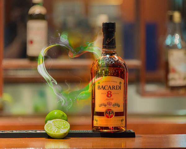 Bacardi Poster featuring the photograph Bacardi And Lime In Love by Gavin Baker