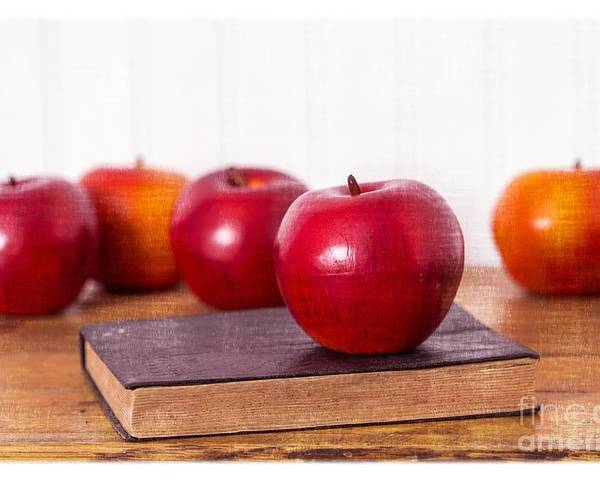 Apples Poster featuring the photograph Back To School Apples by Edward Fielding