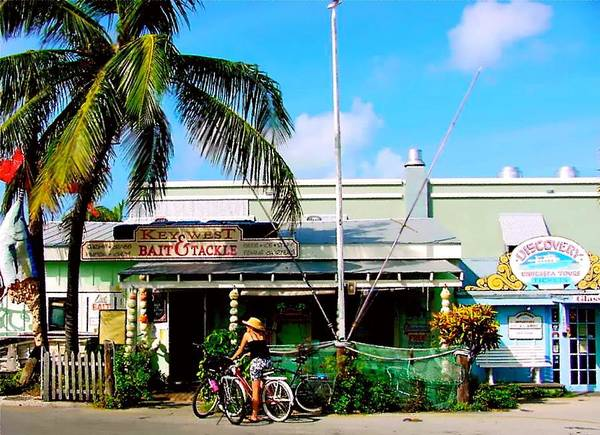 Key West Painting Poster featuring the painting Bait And Tackle Key West by Iconic Images Art Gallery David Pucciarelli