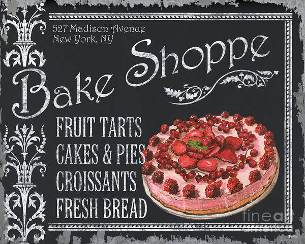 Cuisine Poster featuring the painting Bake Shoppe by Debbie DeWitt