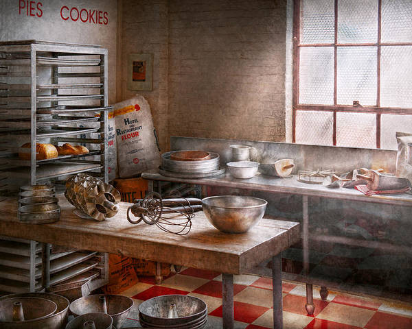 Baker Poster featuring the photograph Baker - Kitchen - The Commercial Bakery by Mike Savad