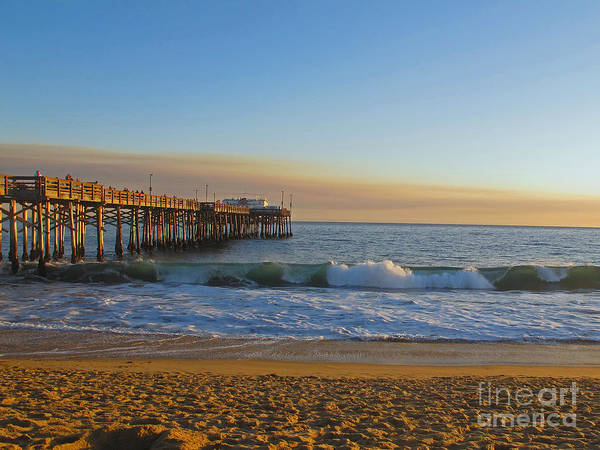 Ocean Poster featuring the photograph Balboa Pier by Kelly Holm