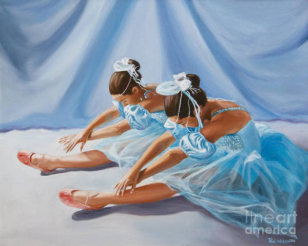 Ballet Dancers Poster featuring the painting Ballet Dancers by Paul Walsh